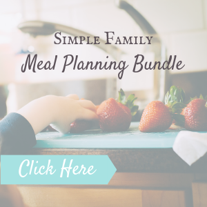 easy family meal planning template