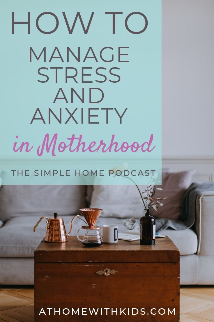 manage stress and anxiety in motherhood