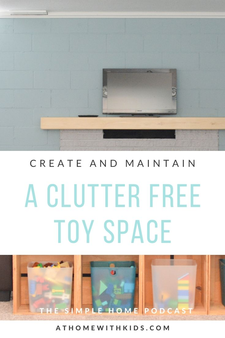 clutter free toy space