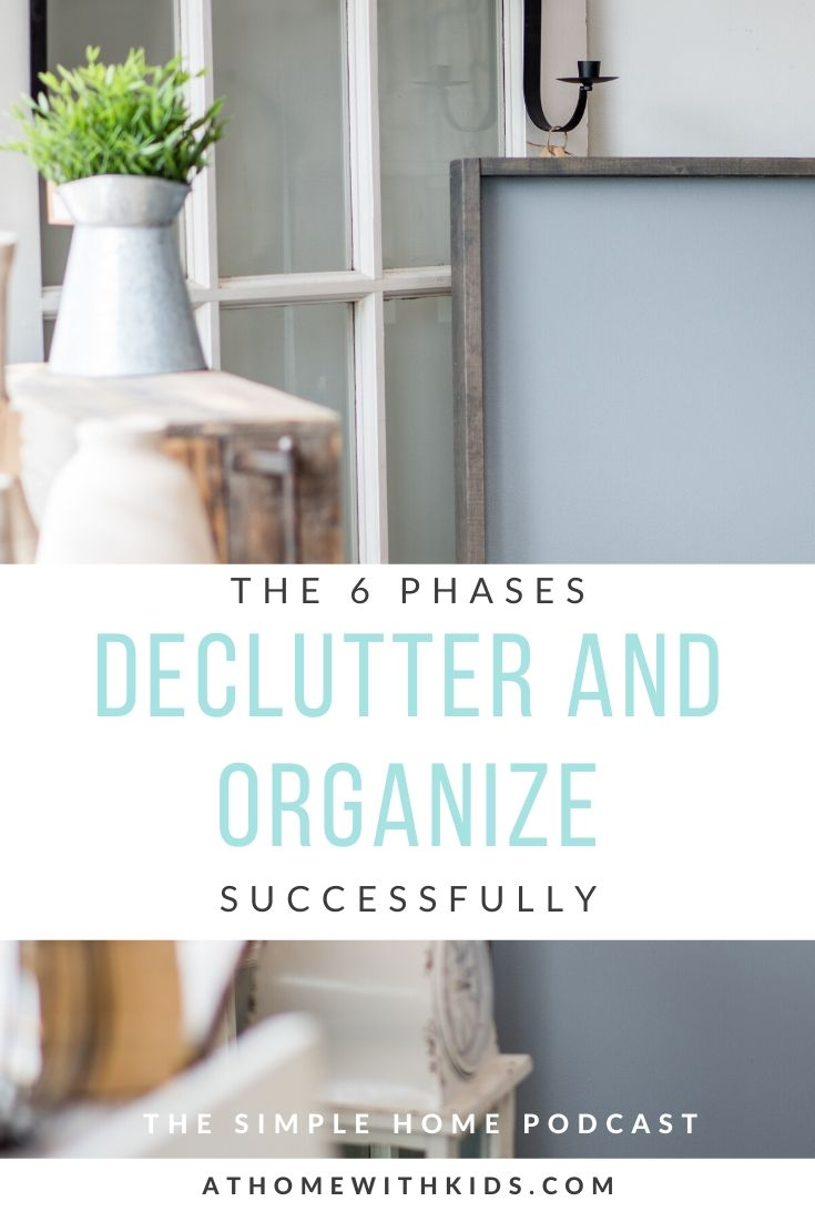 decluttering and organization