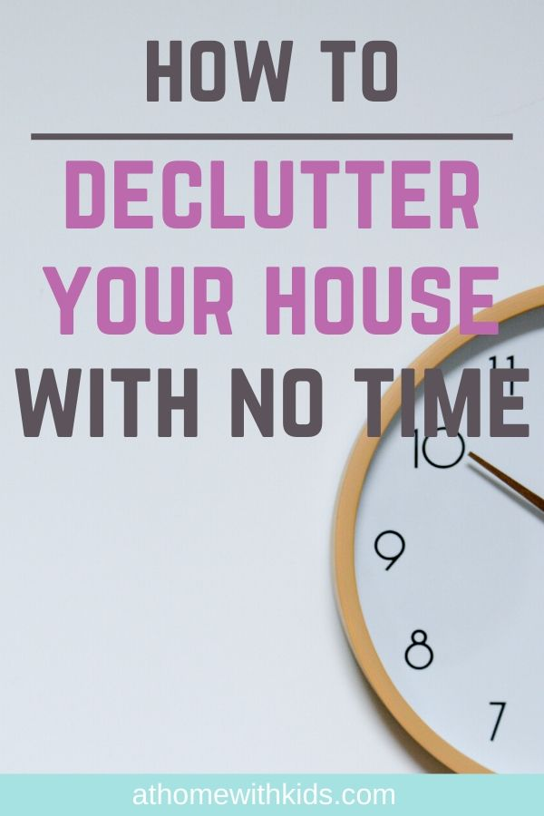 make time to declutter